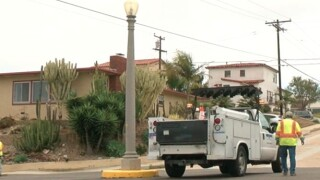 Residents upset after city paints Point Loma lamp posts