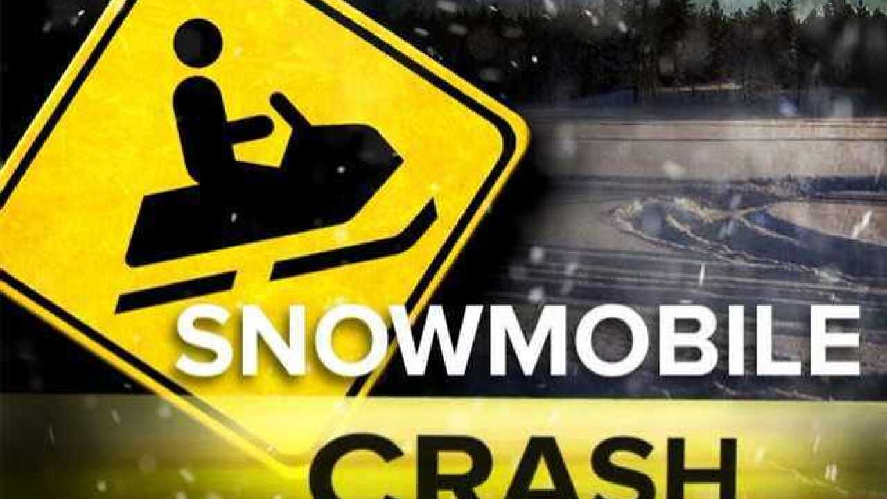 Snowmobile crash sends one person to hospital