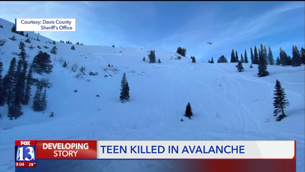18-year-old snowmobiler dies after being caught inavalanche