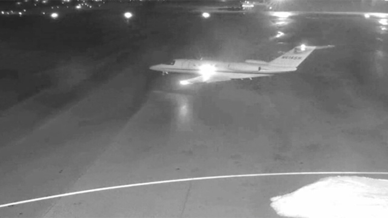 Videos show plane takeoff before disappearing