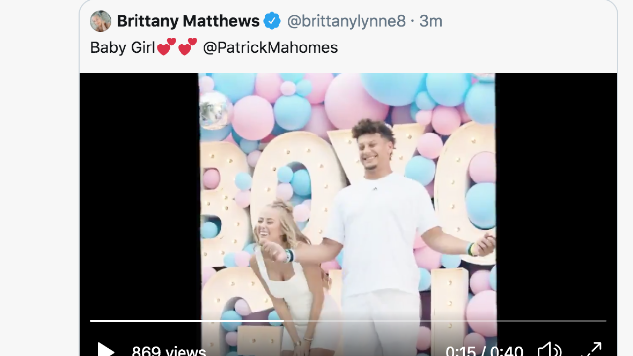 Chiefs' Patrick Mahomes, fiancée Brittany Matthews announce baby is a girl