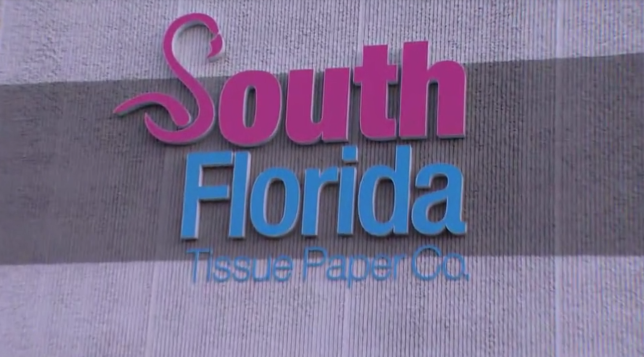 South Florida Tissue Paper Co. sign
