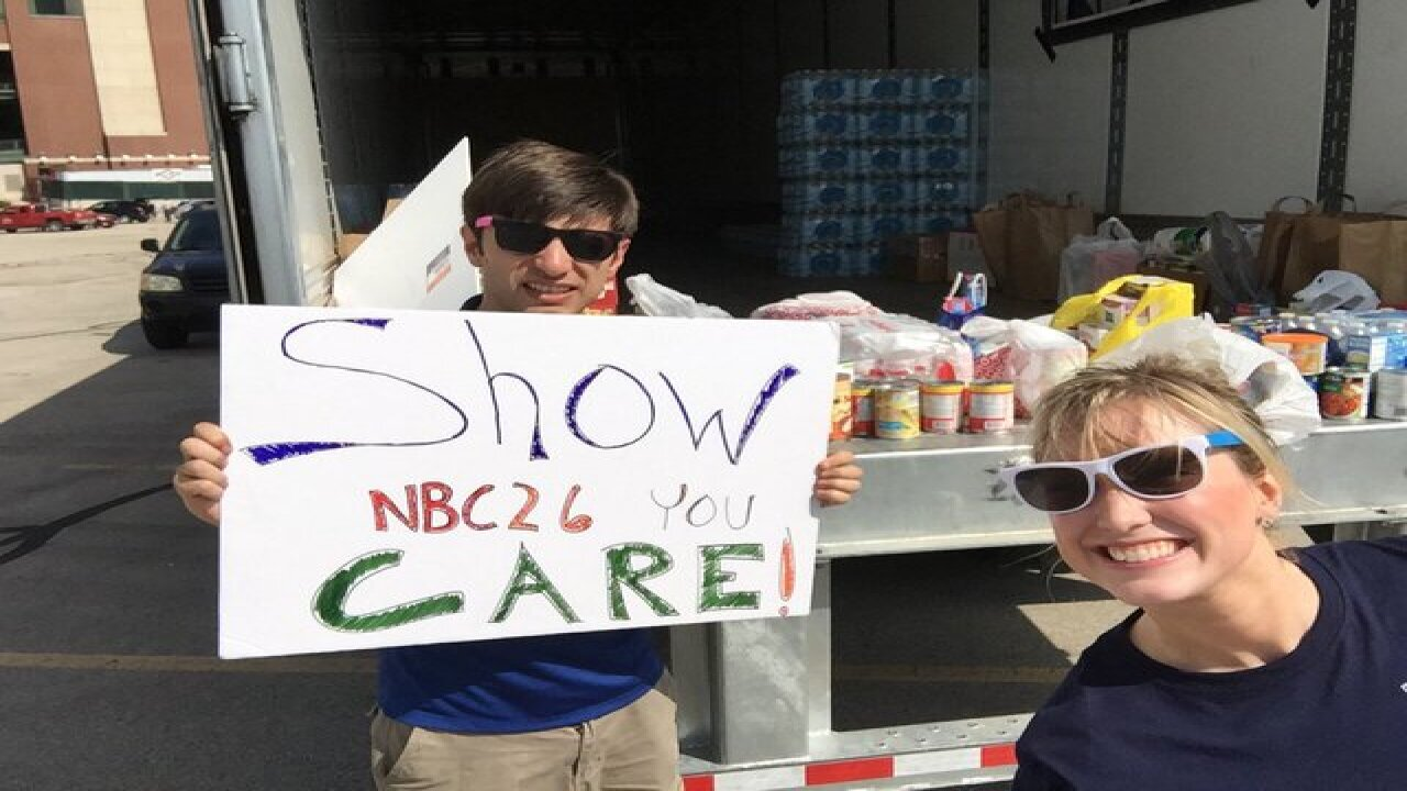 Photos from the NBC26 Food Drive