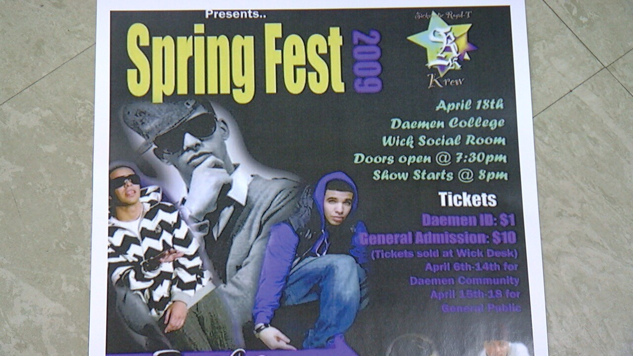 2009 Springfest flyer shows Drake performed at Daemen College_.jpg