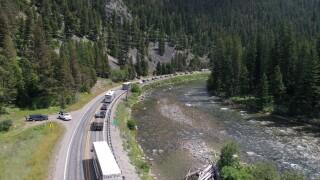 'Waiting in line:' Highway 191 guard rail work causes delays in Big Sky traffic