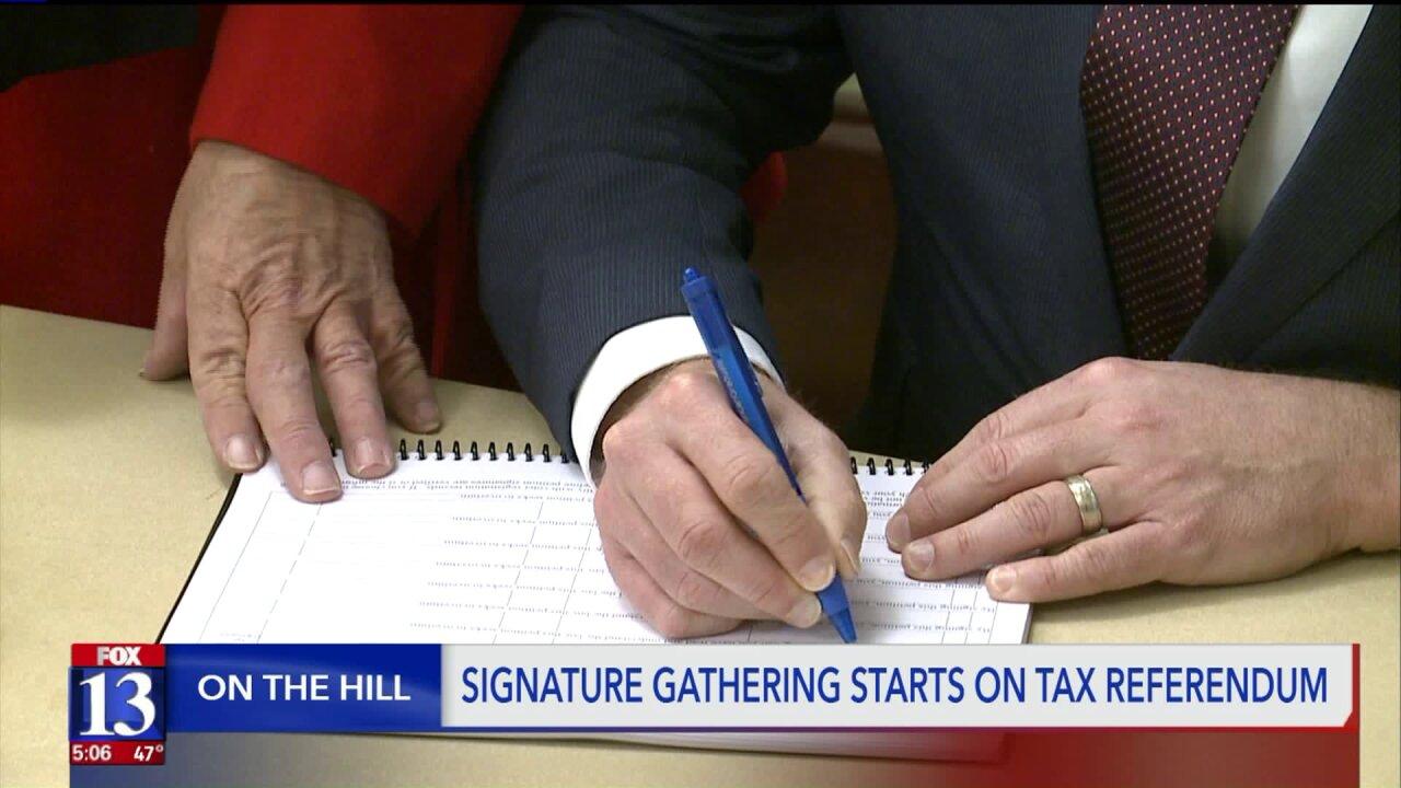 Signature gathering starts for citizen referendum on the Utah legislature's tax overhaulbill