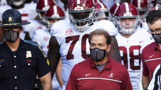 Alabama head coach Nick Saban cleared to return to sideline