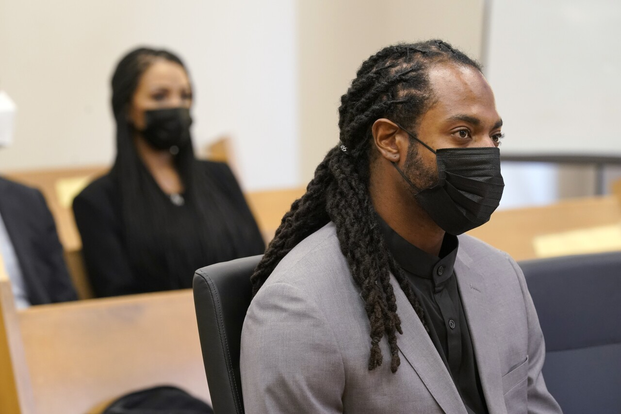 Richard Sherman in court with wife after July 2021 arrest