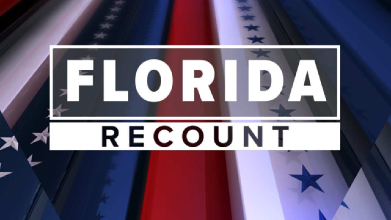Machine recount for 3 Florida races underway