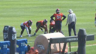 Broncos defense at training camp