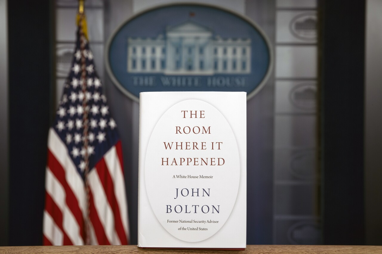 'The Room Where It Happened' book photographed inside White House