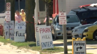 Wisconsin State Fair parking in West Allis on homeowners property