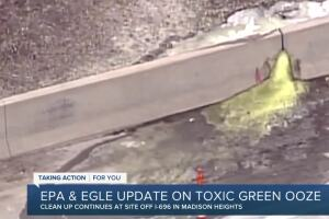 State, feds give update on green ooze contamination site
