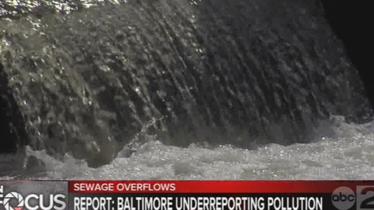 Groups urging Baltimore to address sewage issues