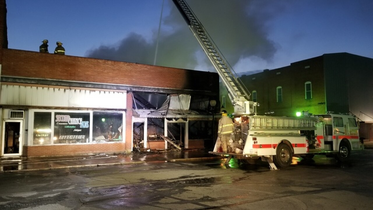 Fire damages building in Downtown Wagoner