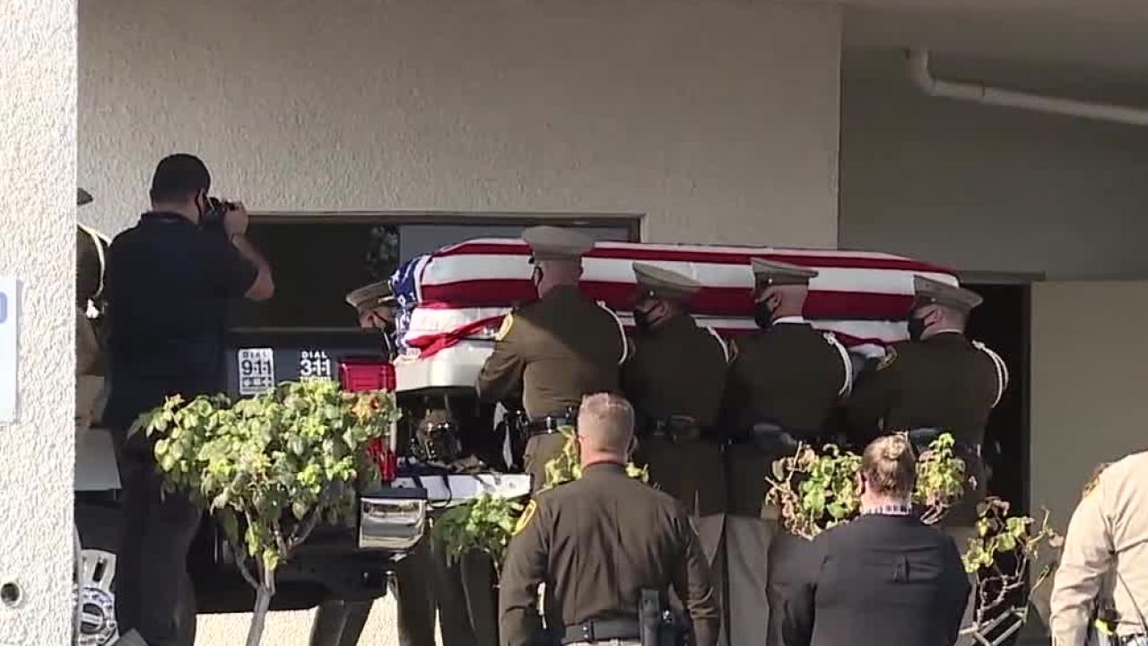 Lt. Lloyd casket