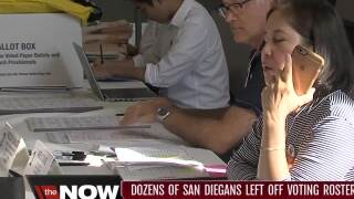 Dozens of San Diegans left off voting roster