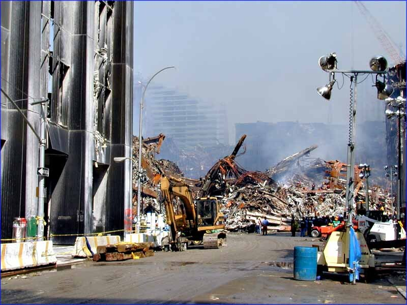 Street Level Picture of World Trade Center Attacks Aftermath