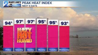 Heat Index The Next Few Days