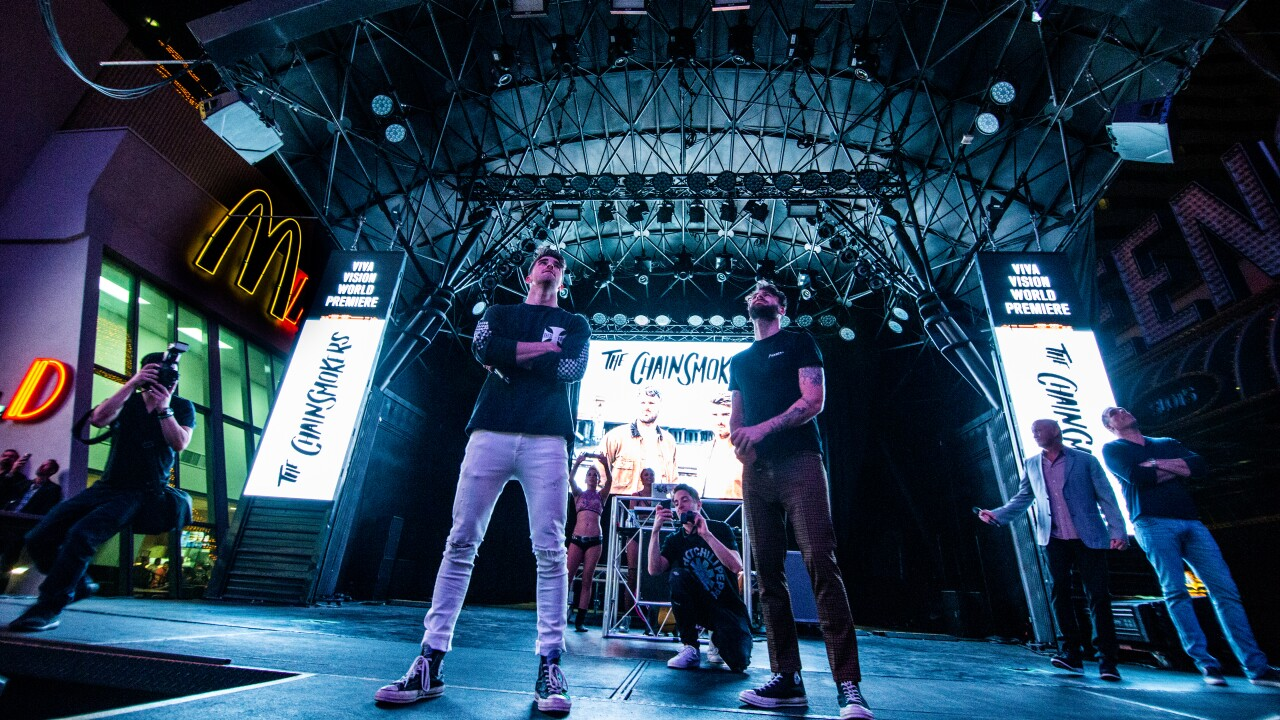 The Chainsmokers celebrate the debut of all-new Viva Vision light show at Fremont Street Experience, 5.31.19.jpg