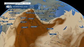 Sahara dust plume