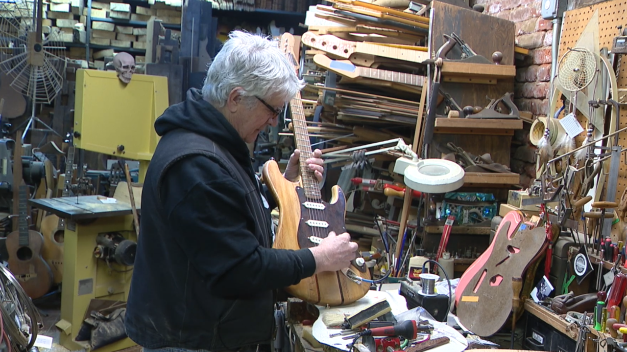 Guitar craftsman uses unique materials from old New York