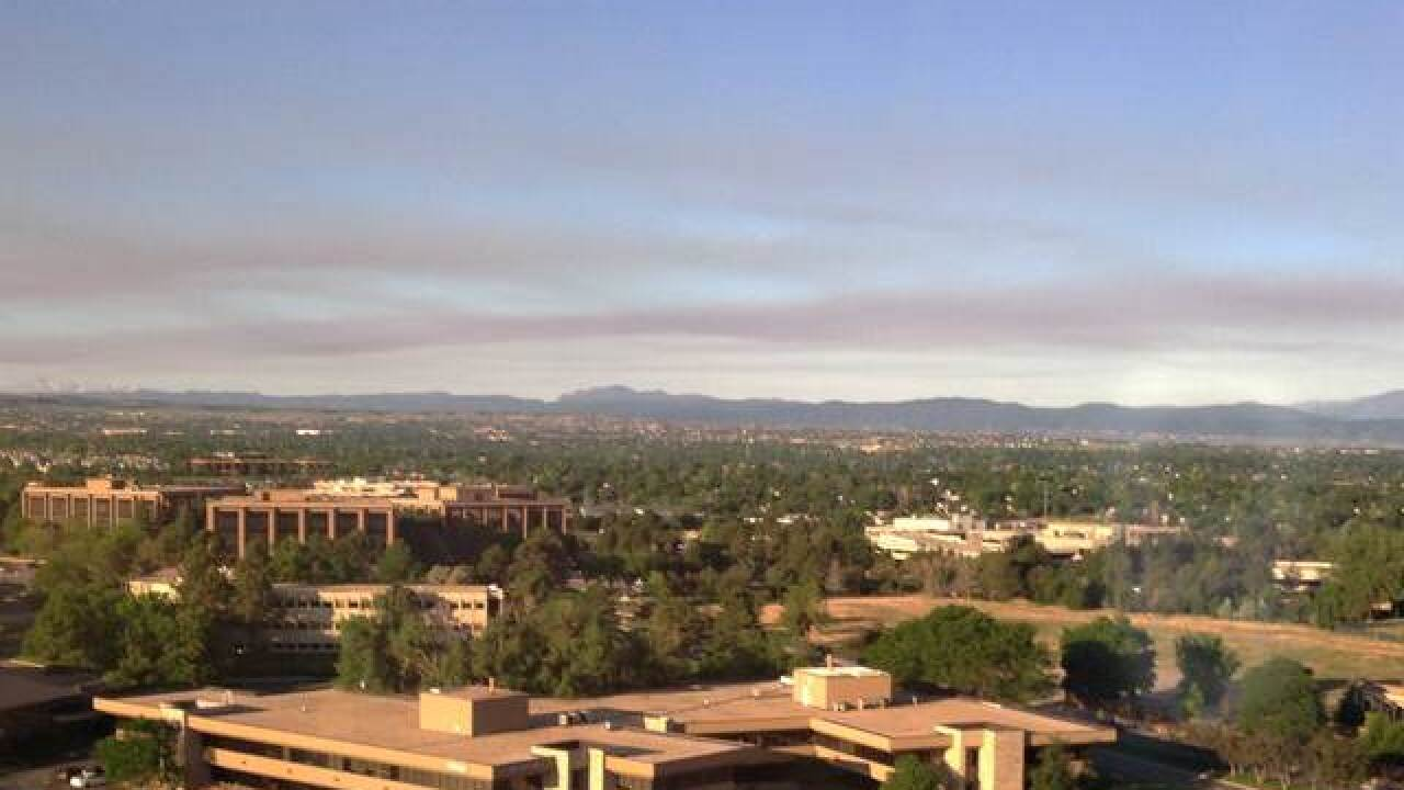 Smoke, haze caused by New Mexico, Fort Carson, Arizona wildfires