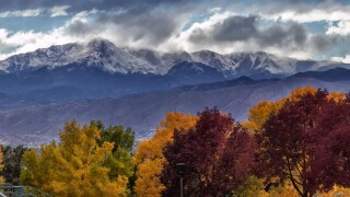 Colorado Springs in fall