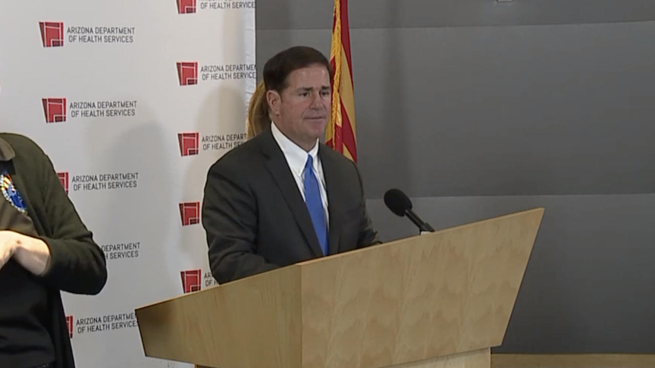 Arizona Governor Doug Ducey update on coronavirus pandemic 3-23-20