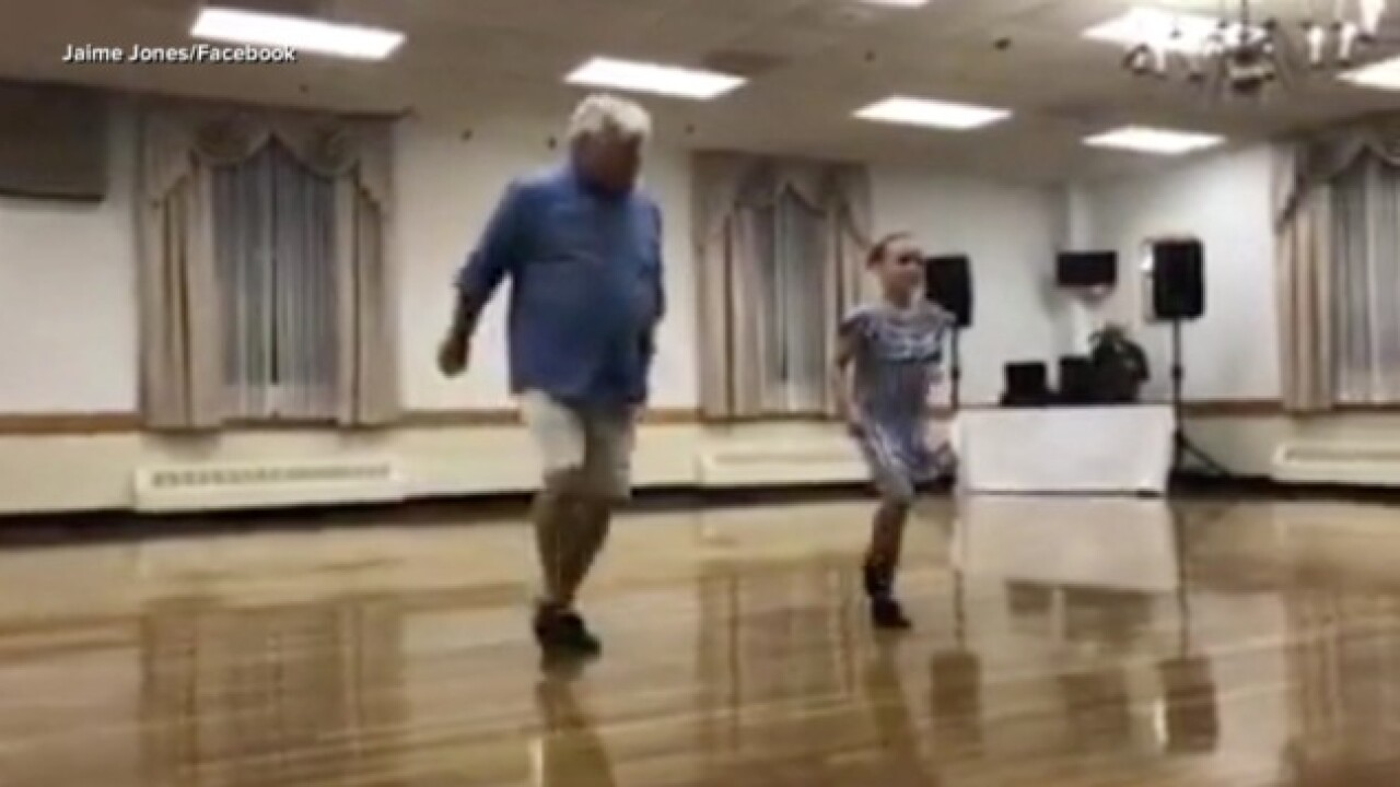 10-year-old girl asks her 72-year-old grandpa to dance with her in tap recital, dance goes viral