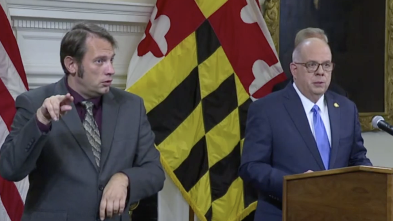 Gov. Hogan mandates vaccinations for workers at several state agencies