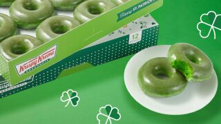 Krispy Kreme is giving away free doughnuts for St. Patrick's Day
