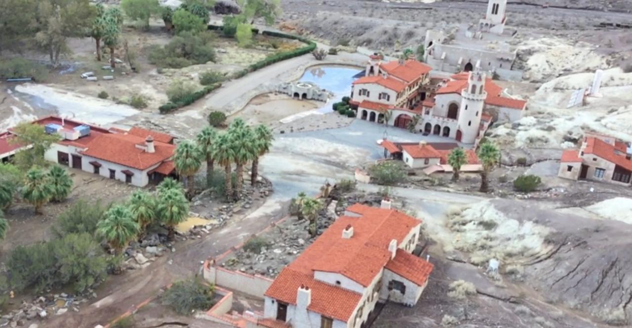 Scotty's Castle after flood