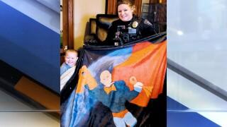 Orrville police Archer superhero blanket