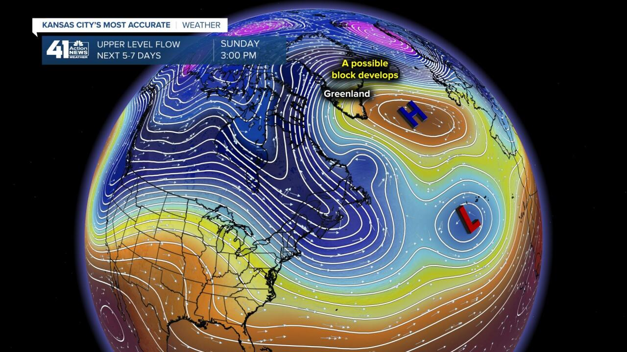 Possible Blocking Near Greenland