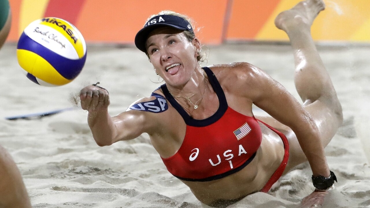 Beach volleyball star Walsh Jennings offers virtual training