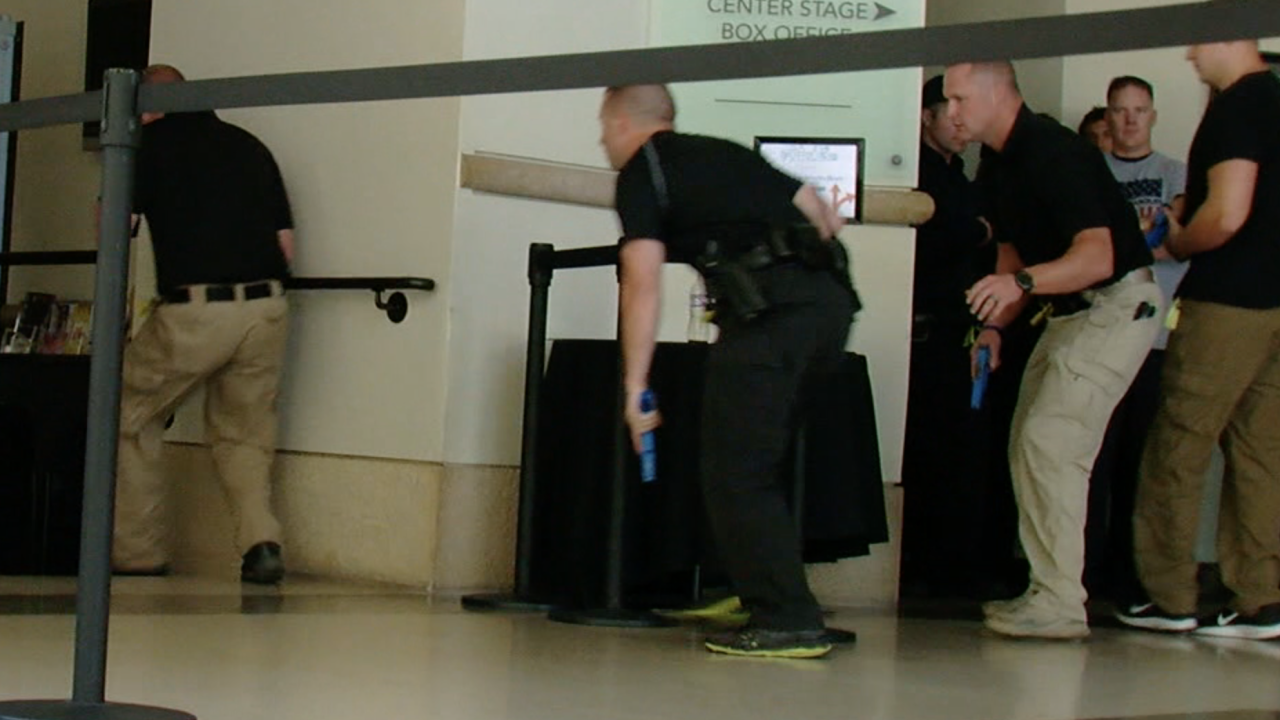 Active shooter training in downtown Phoenix