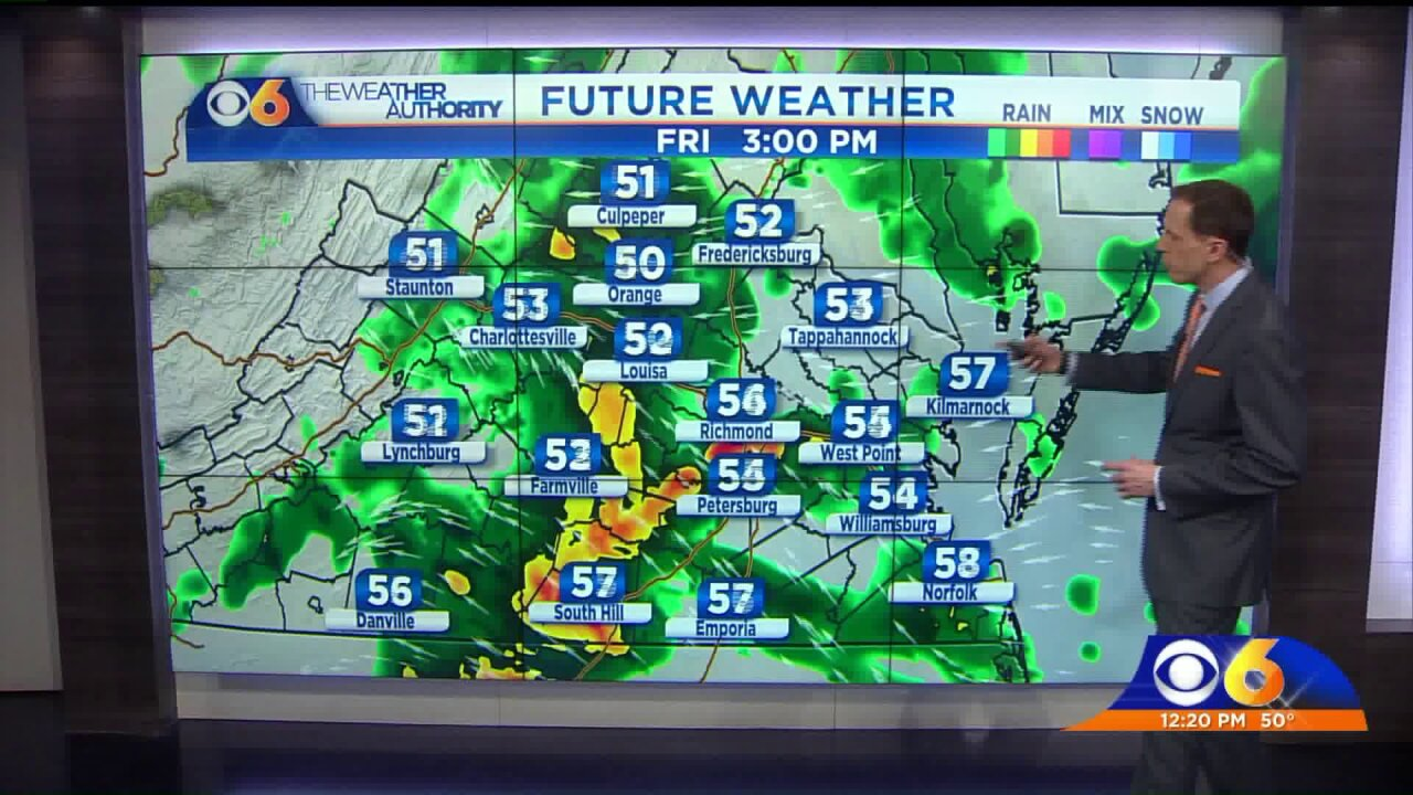 Hour-by-hour breakdown: When we'll see rain onFriday