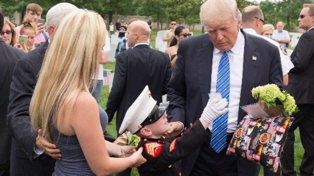 Honoring father on Memorial Day, Hertford boy meets PresidentTrump