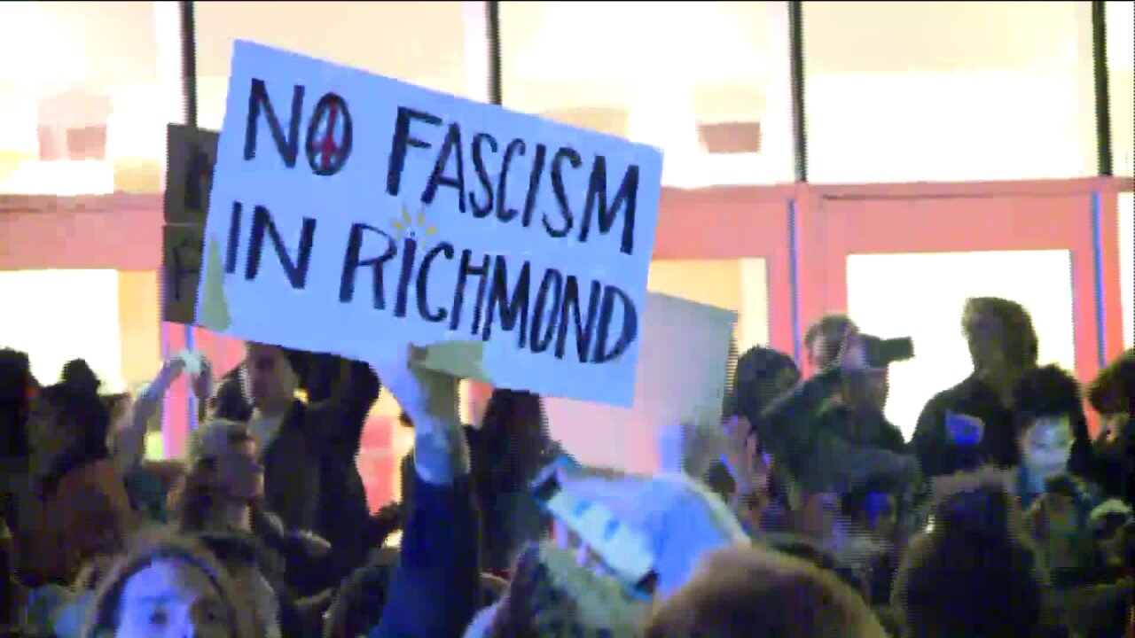10 arrested after anti-Trump protesters march Richmondstreets