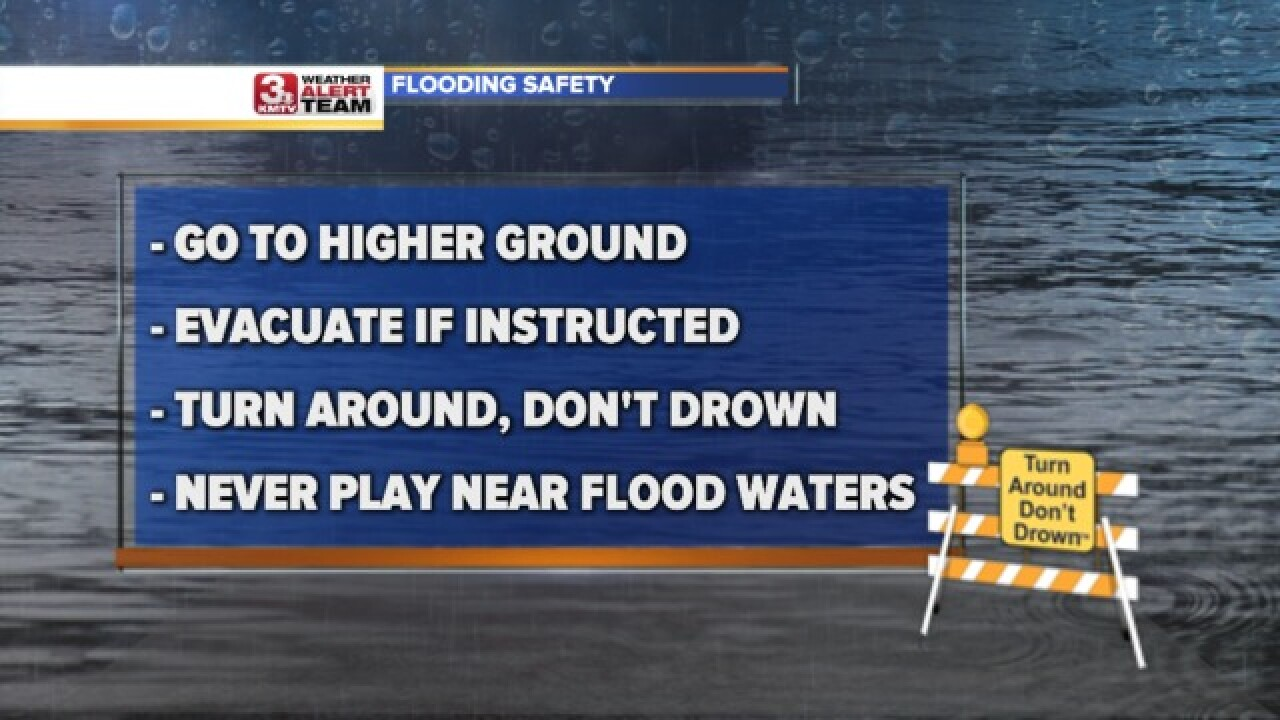 Douglas, Sarpy Counties in flood warning