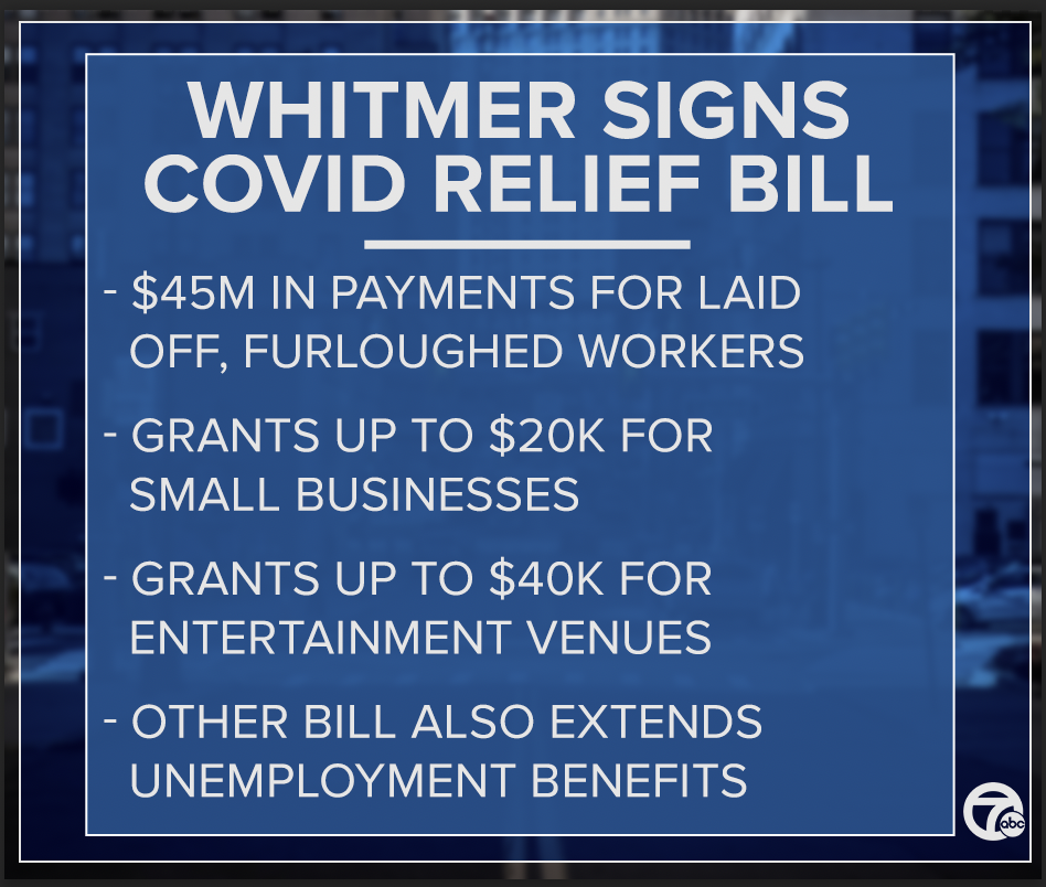 whitmer signs relief bill