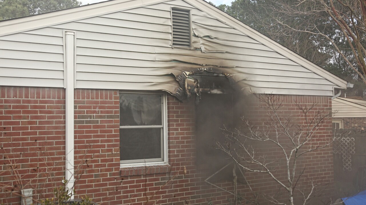 Three people displaced after house fire in Virginia Beach