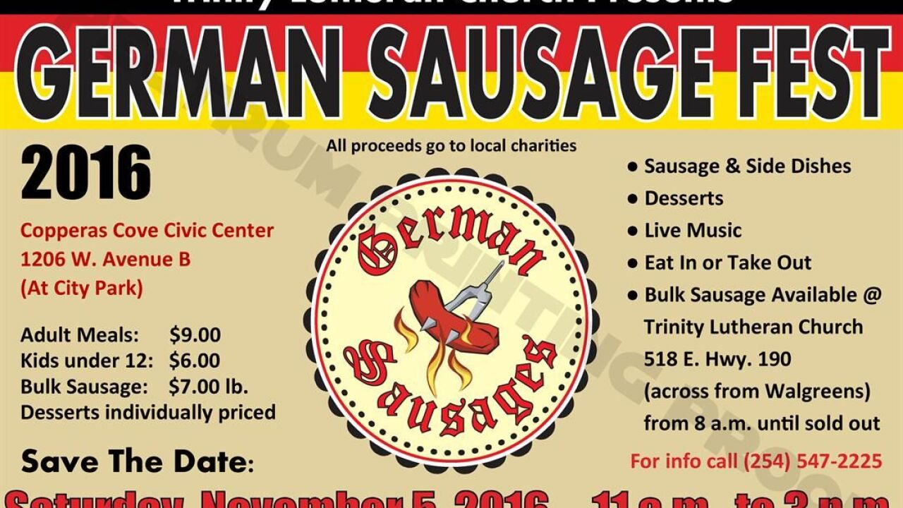 Trinity Lutheran Church hosts annual German Sausage Fest