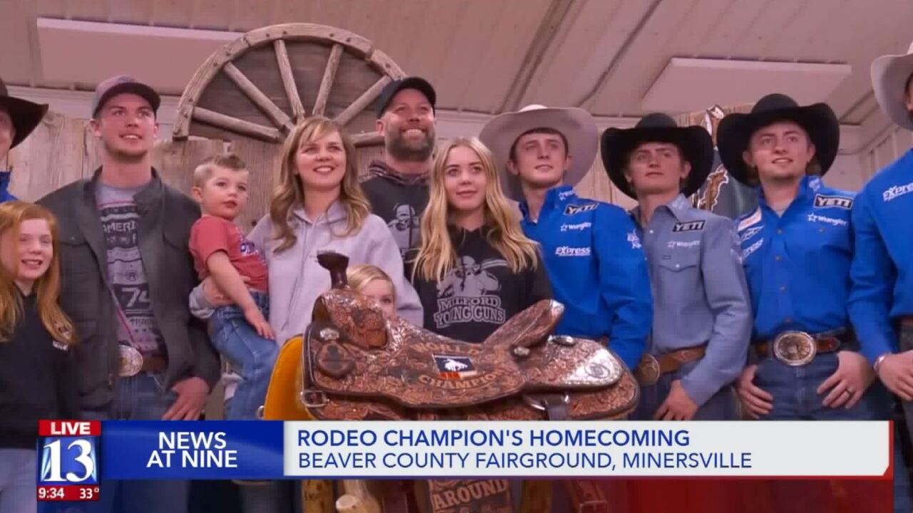Utah rodeo star given champion's welcomehome