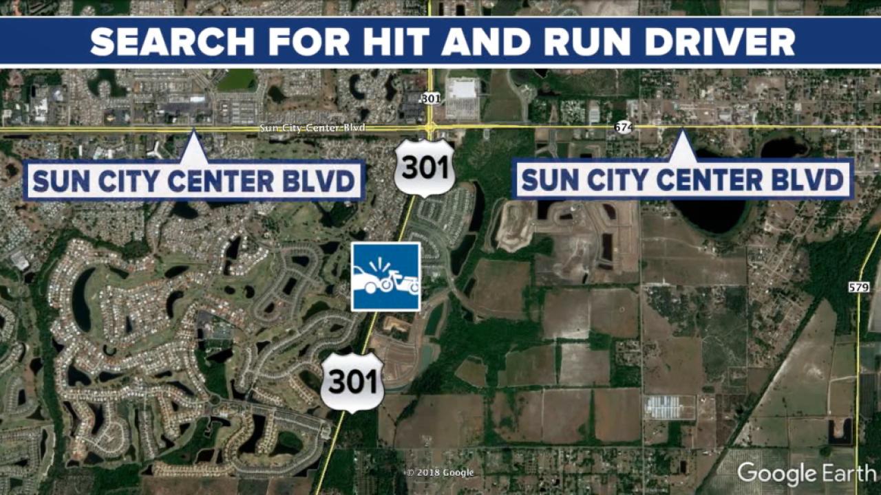 Sun City Center hit-and-run map