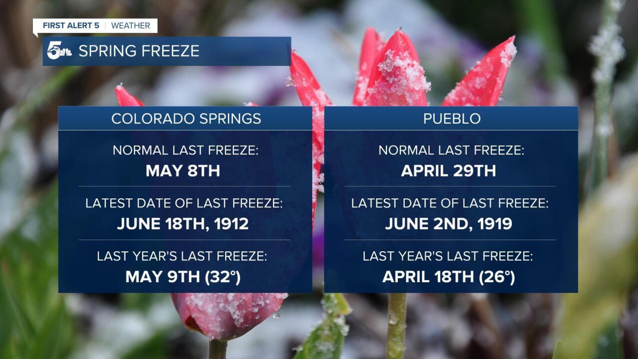 Spring Freeze Data