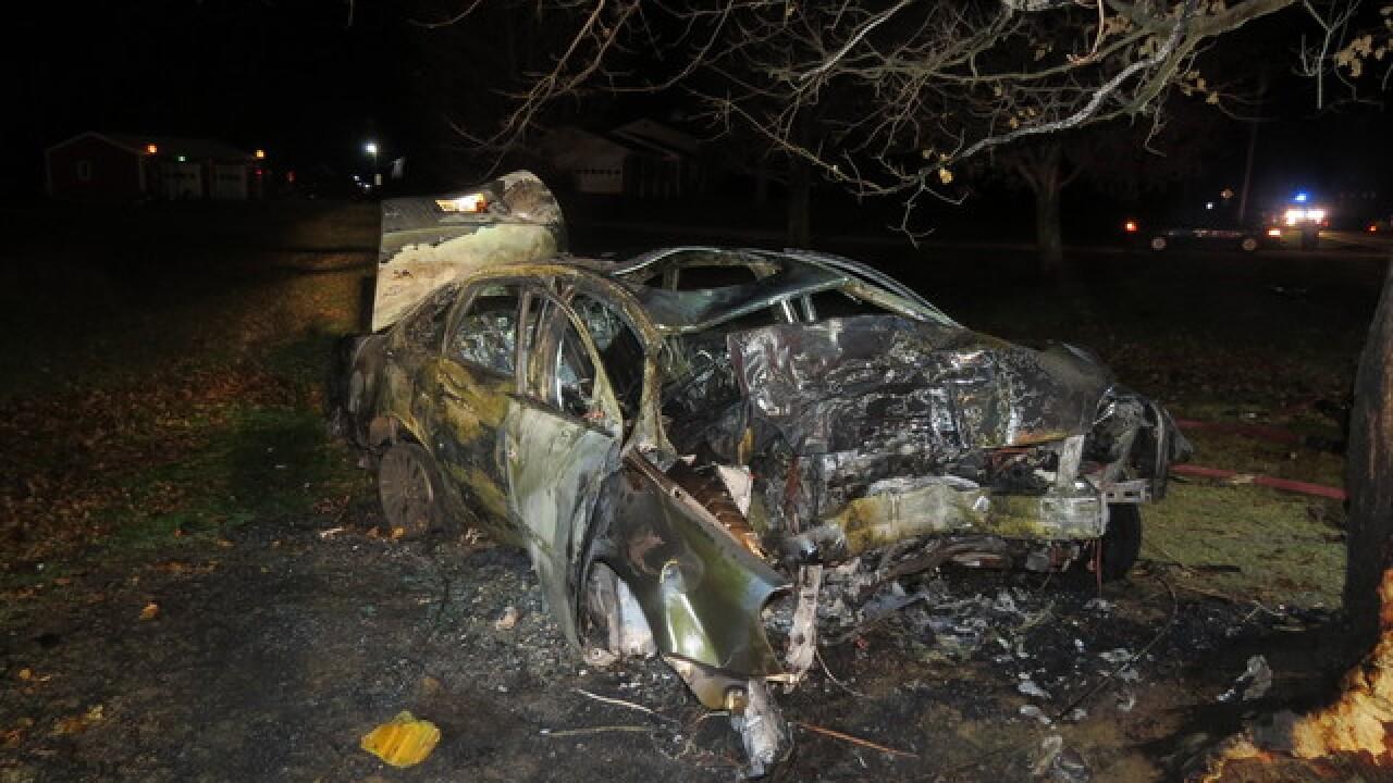 PD: Man dies in fiery southeastern Indiana crash