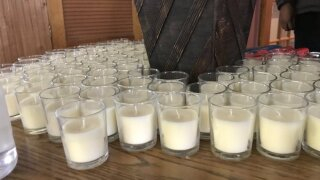 2020 KCMO homicide victim vigil candles