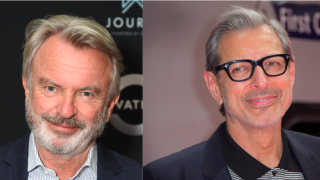"Sam Neill and Jeff Goldblum share duets while on set of latest ""Jurassic Park"""
